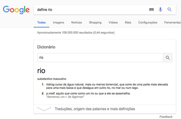 google-dicionario